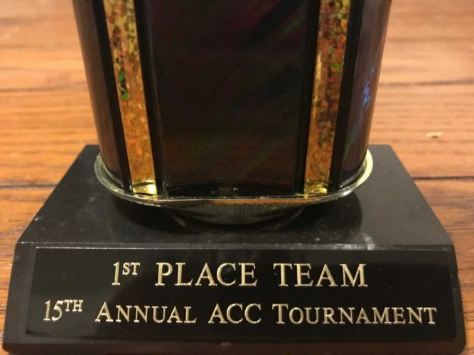 15th Annual ACC Tournament Trophy